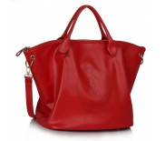 Kabelka LS Fashion LS00391 červená s popruhem