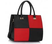 Kabelka LS Fashion LS00153L - černo-červená