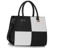 Kabelka LS Fashion LS00153L - černo-bílá