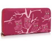 Peněženka LS Fashion LSP1046 fuchsia s motivem soviček