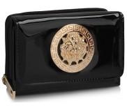 Peněženka LS Fashion LSP1064 černá s kovovým zdobením