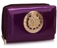 Peněženka LS Fashion LSP1064 fialová s kovovým zdobením