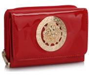 Peněženka LS Fashion LSP1064 červená s kovovým zdobením