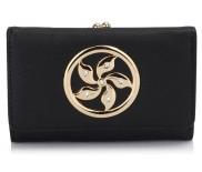 Peněženka LS Fashion LSP1066 černá s kovovým zdobením