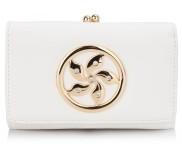 Peněženka LS Fashion LSP1066 bílá s kovovým zdobením