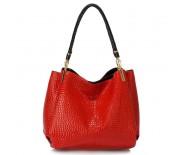 LS Fashion hadí kůže LS00243 červená