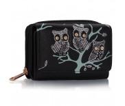 Peněženka LS Fashion LSP1045-BLACK s motivem soviček