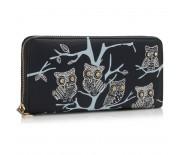 Peněženka LS Fashion LSP1046 slonovinová s motivem soviček